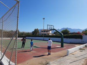 Το γήπεδο του μπάσκετ ήταν αυτό που μας κέντρισε περισσότερο την προσοχή!
